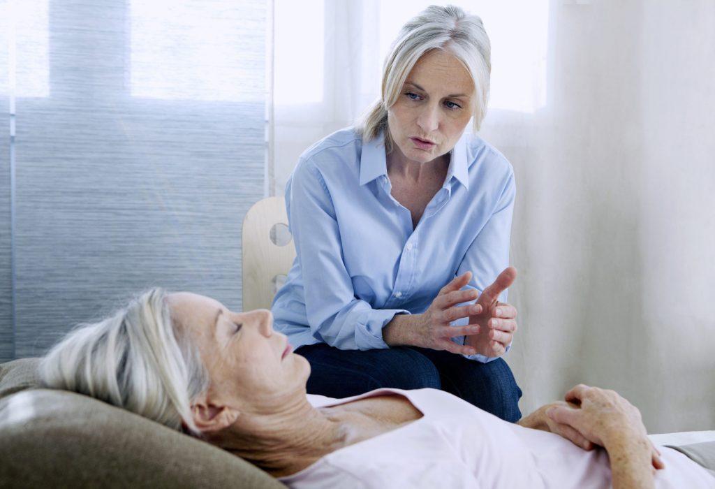 Femme en séance d'hypnose.